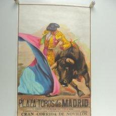 Cartazes Touros: CARTEL DE TOROS PLAZA DE TOROS MADRID GRAN CORRIDA DE NOVILLOS 5 DE OCTUBRE 1986. Lote 204689487