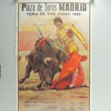 Cartazes Touros: CARTEL DE TOROS PLAZA DE TOROS MADRID FERIA DE SAN ISIDRO 1988. Lote 204689635