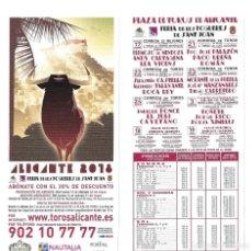 Carteles Toros: FOLLETO DEL PROGRAMA DE LAS CORRIDAS DE LA FERIA DE LES FOGUERES DE SANT JOAN (ALICANTE) 2018. Lote 204702872