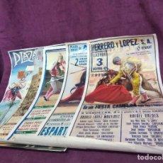 Cartazes Touros: LOTE DE 5 CARTELES DE TOROS, VARIAS PLAZAS DE TOROS Y AÑOS, 70 X 45 CMS. Lote 205247247