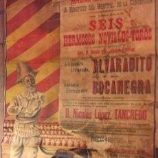 Carteles Toros: CARTEL HISTÓRICO DE DON TANCREDO EN LA PLAZA DE TOROS DE BAEZA.19 MAYO DE 1901. AUTOR A. DIAZ. ÚNICO. Lote 205823741