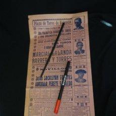 Carteles Toros: AÑO 1929.CARTEL TOROS PLAZA VALENCIA.. Lote 206219921