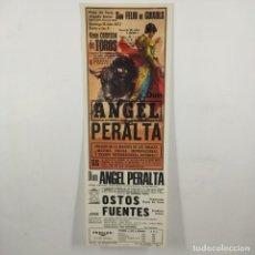Carteles Toros: CARTEL - CORRIDA DE TOROS - SAN FELIU DE GUIXOLS - 1972 - 31,4X11CM - ANGEL PERALTA /TC-49.2-12. Lote 206862107