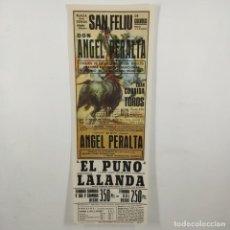 Carteles Toros: CARTEL - CORRIDA DE TOROS - SAN FELIU DE GUIXOLS - 1972 - 31,4X11CM - ANGEL PERALTA /TC-49.2-17. Lote 206863713