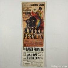 Carteles Toros: CARTEL - CORRIDA DE TOROS - SAN FELIU DE GUIXOLS - 1972 - 31,4X11CM - ANGEL PERALTA /TC-49.2-18. Lote 206864217