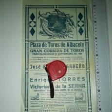 Carteles Toros: CARTEL DE TOROS DE ALBACETE 1933. Lote 207136993