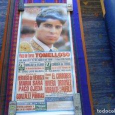 Carteles Toros: LOTE 75 CARTEL CARTELES DE TOROS CON REGALO DE FOTO ENRIQUE PONCE. DENTRO FOTOS DE TODOS. DE LUJO.. Lote 207177935
