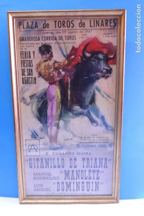 PLAZA DE TOROS DE LINARES 28 AGOSTO DE 1947 (MUERTE DE MANOLETE) (Coleccionismo - Carteles Gran Formato - Carteles Toros)