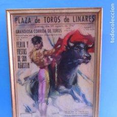 Carteles Toros: PLAZA DE TOROS DE LINARES 28 AGOSTO DE 1947 (MUERTE DE MANOLETE). Lote 207263073