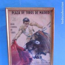 Carteles Toros: PLAZA DE TOROS DE MADRID. GRAN CORRIDA DE TOROS.. Lote 207270201
