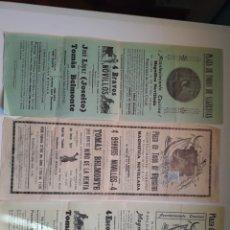 Carteles Toros: TRES CARTELES DE ALGECIRAS DE 1930. Lote 239399955