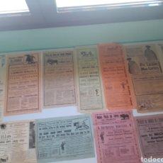 Carteles Toros: LOTE DE CARTELES DE TOROS ANTIGUOS DE GRANADA. Lote 207369807