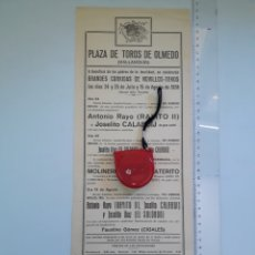 Carteles Toros: CARTEL DE OLMEDO 1938 VALLADOLID. Lote 208038806