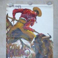 Carteles Toros: CARTEL TOROS - BILBAO - AÑO 1969 - ILUSTRADOR: GARCIA CAMPOS, TOREROS: PAQUIRRI, ANTONIO ORDOÑEZ. Lote 208253061