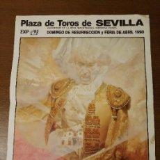 Carteles Toros: SEVILLA,- CARTEL DE TOROS--EXPO 92-- MIDE: 66 X 49 C.M. VER FOTOS. Lote 208996493