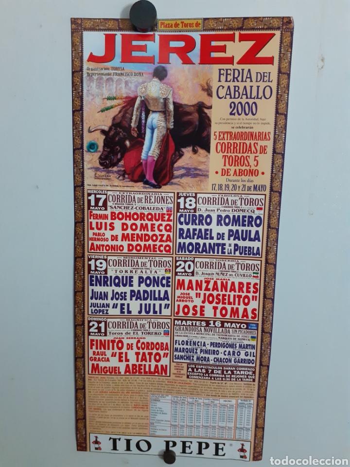 CARTEL DE JEREZ DE LA FERIA DEL CABALLO, AÑO 2000 (Coleccionismo - Carteles Gran Formato - Carteles Toros)