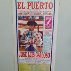 Carteles Toros: CARTEL DE TOROS DEL PUERTO, AÑO 1990. Lote 209126607