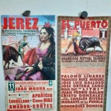 Carteles Toros: DOS CARTELES DE TOROS, DE JEREZ Y EL PUERTO, AÑOS 99 Y06. Lote 209127595