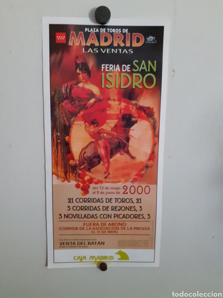 CARTEL DE TOROS DE LA FERIA DE SAN ISIDRO ,AÑO 2000 (Coleccionismo - Carteles Gran Formato - Carteles Toros)