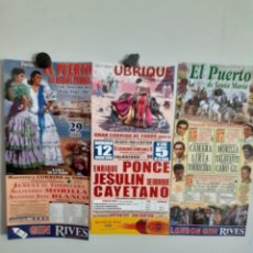 Carteles Toros: 3 CARTELES DE TOROS DEL PUERTO Y UBRIQUE, AÑOS 06, 07 Y08. Lote 209253245