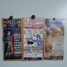 Carteles Toros: 3 CARTELES DE TOROS, AÑO 2000. Lote 209291670
