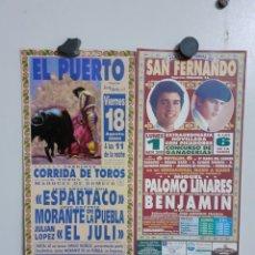 Carteles Toros: DOS CARTELES DE TOROS DEL AÑO 2000. Lote 209292440