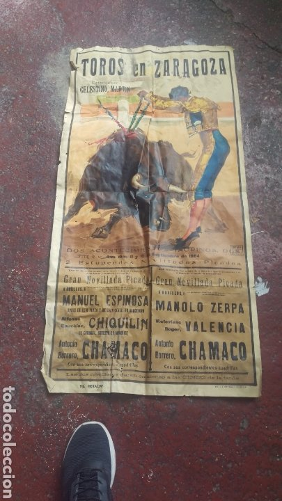 CARTEL TOROS ZARAGOZA GRAN TAMAÑO (Coleccionismo - Carteles Gran Formato - Carteles Toros)