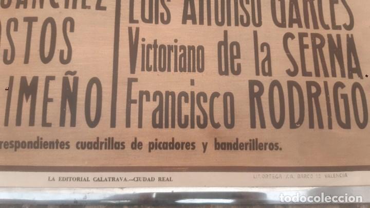 Carteles Toros: CARTEL DE TOROS ANTIGUO PLAZA DE PUERTOLLANO GRAN FERIA DE MAYO DE 1963 GREGORIO SANCHEZ JAIME OSTOS - Foto 2 - 210795139
