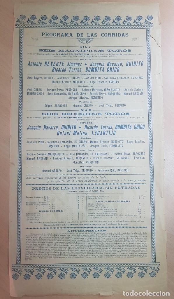 Carteles Toros: ANTIGUO CARTEL PLAZA TOROS MURCIA 1902 ILUSTRADOR MARCELINO UNCETA - Foto 2 - 211753596
