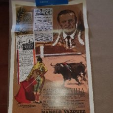 Cartazes Touros: DESPEDIDA DE MANOLO VAZQUEZ QUE FIRMA EL CARTEL, SEVILLA 1983, 63 X 34 CM.. Lote 212158508