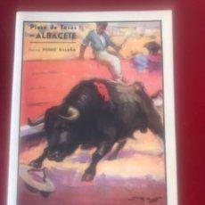 Carteles Toros: PROGRAMA FERIA, PLAZA DE TOROS DE ALBACETE 1944. TAUROMAQUIA.. Lote 212324545