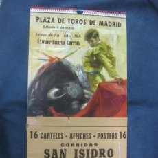 Carteles Toros: PLAZA DE TOROS DE MADRID. 16 CARTELES CORRIDAS SAN ISIDRO 1968.. Lote 214336876