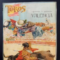 Affissi Tauromachia: CARTEL TOROS, PLAZA DE VALENCIA FERIA 1915 GALLO GALLITO BELMONTE LEER DESCRIPCION ORIGINAL RB. Lote 215372540