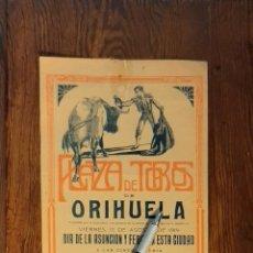 Carteles Toros: ANTIGUO CARTEL PLAZA DE TOROS DE ORIHUELA 1919. Lote 215767143