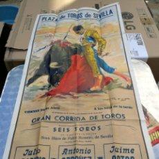 Carteles Toros: CARTEL DE TOROS SEVILLA 25-04-1960 JULIO APARICIO ANTONIO ORDOÑEZ Y JAIME OSTOS - HIJOS PABLO ROMERO. Lote 216693067