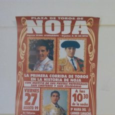 Affiches Tauromachie: CARTEL TAURINO-NOJA 1999 1° CORRIDA DE TOROS DE LA HISTORIA DE NOJA. 31X15 CM. Lote 216923533