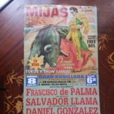Carteles Toros: CARTEL. DE TOROS CORRIDA EN MIJAS. EL 8 DE MAYO, 2011. VER CARTEL.. Lote 217124373
