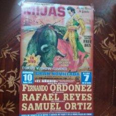 Carteles Toros: CARTEL. DE TOROS CORRIDA EN MIJAS. EL DOMINGO 10 DE JULIO 2011. VER CARTEL.. Lote 217125201