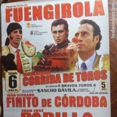 Carteles Toros: CARTEL. DE TOROS CORRIDA EN FUENGIROLA EL SÁBADO 6 E OCTUBRE 2018. VER CARTEL.. Lote 217125906