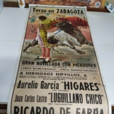 Carteles Toros: CARTEL DE TOROS DE ZARAGOZA 1966. Lote 217559967