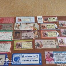 Carteles Toros: LOTE 18 ENTRADAS DE TOROS. Lote 217598308