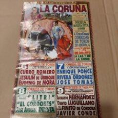 Carteles Toros: CARTEL TOROS LA CORUÑA 1998 CORRIDA. Lote 218197680