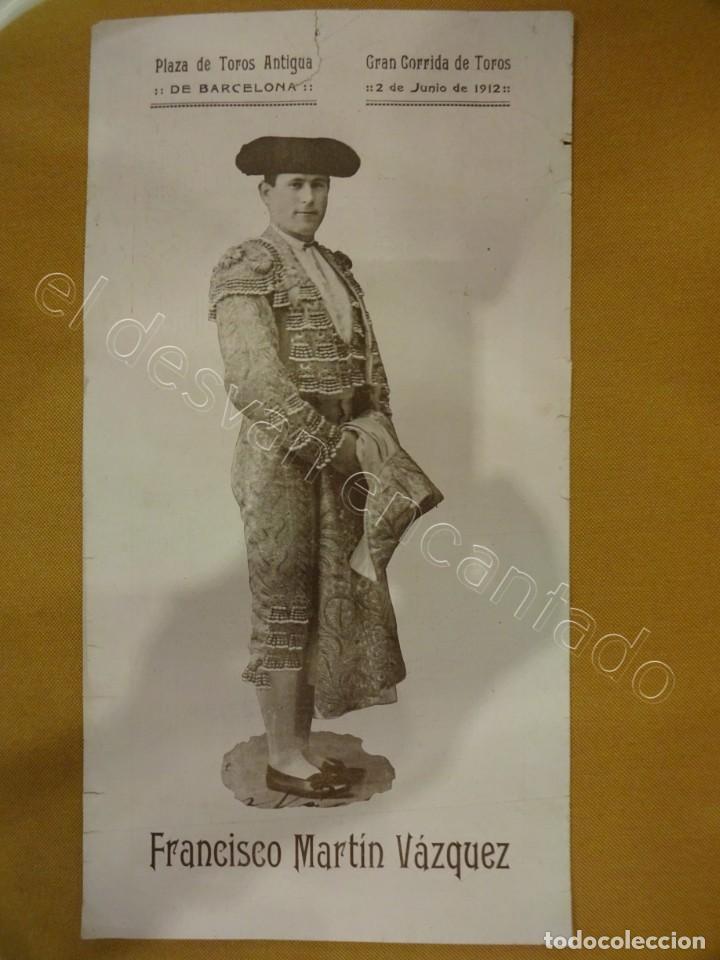 PLAZA DE TOROS ANTIGUA DE BARCELONA. CARTEL AÑO 1925. 35 X 19 CTMS (Coleccionismo - Carteles Gran Formato - Carteles Toros)
