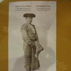 Carteles Toros: PLAZA DE TOROS ANTIGUA DE BARCELONA. CARTEL AÑO 1925. 35 X 19 CTMS. Lote 218491375