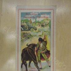 Carteles Toros: NUEVA PLAZA DE TOROS ARENAS DE BARCELONA. CARTEL AÑO 1915. 39 X 18 CTMS. Lote 218491908