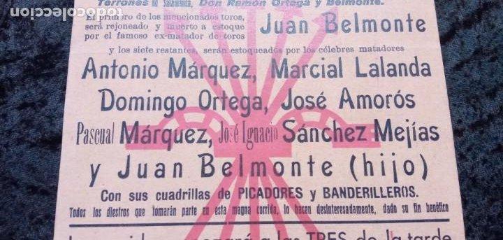 Carteles Toros: CARTEL PLAZA DE TOROS SEVILLA - 1937 - FALANGE ESPAÑOLA - BELMONTE - SÁNCHEZ MEJÍAS - REPRODUCCION - - Foto 2 - 218856865