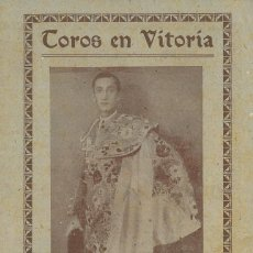 Affiches Tauromachie: TOROS EN VITORIA - MANOLETE.. Lote 219128298