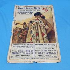 Carteles Toros: CARTEL PLAZA DE TOROS DE MURCIA - FIESTAS DE ABRIL DE 1935 - MEDIDAS 43×26 CM APROX.. Lote 219151745