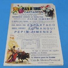 Carteles Toros: CARTEL PLAZA DE TOROS DE CARTAGENA- 06/04/79 - FIRMADO POR LOS DIESTROS - MEDIDAS 32×22 CM. APROX.. Lote 219155785