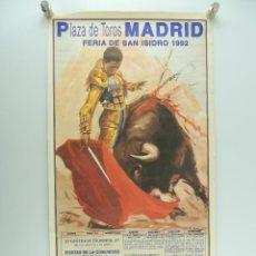 Affiches Tauromachie: CARTEL DE TOROS PLAZA DE TOROS MADRID - FERIA DE SAN ISIDRO 1992. Lote 219203201